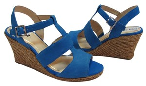 Alex Marie Brand New Suede Leather Blue Sandals