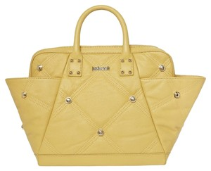 Just Cavalli Quilted Studded Tote in Yellow