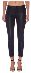 Mother Skinny Pants Black