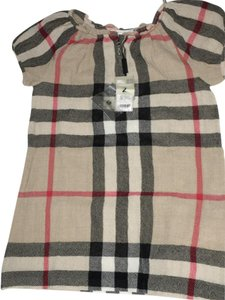 Burberry short dress Tan striped Youth on Tradesy