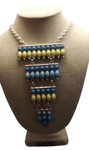 Large Blue and Yellow Necklace Wonderful Statement Piece Sure to Stand Out!