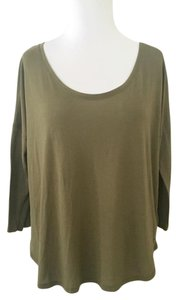American Eagle Outfitters Keyhole Soft Drop Sleeve Top Olive Green