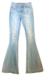 American Eagle Outfitters Bell Bottoms High Waisted Flare Leg Jeans-Distressed