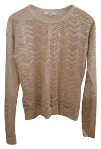 Ann Taylor LOFT Cut-out Chevron Longsleeve Sheer Sweater