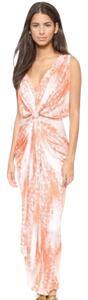Coral Orange multi Maxi Dress by T-Bags Los Angeles