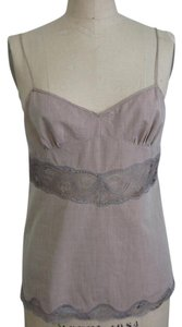 Stella McCartney French Seam Lace Sexy Cami Top LIGHT BROWN