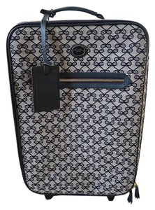 Anya Hindmarch Lattice Print Navy and Gray Travel Bag