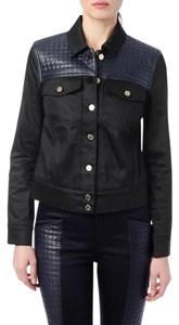 7 For All Mankind Black Womens Jean Jacket