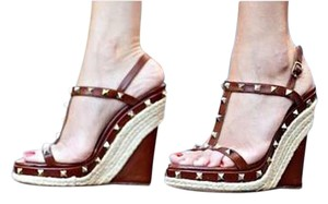 Valentino Brown Wedges