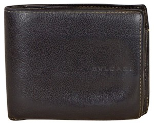 BVLGARI BVLGARI Black Leather Bifold Mens Wallet