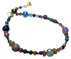 Other New Purple Blue Silver Anklet Ankle Bracelet J2951