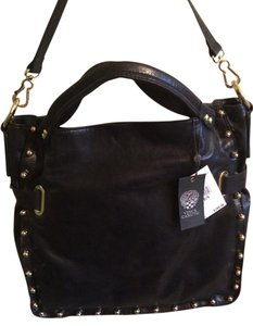 Vince Camuto Leather Studded Tote in black