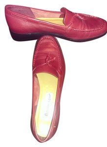Etienne Aigner Leather Red Flats