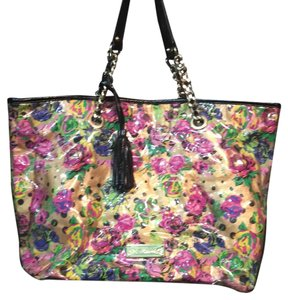 Betsey Johnson Tote in Gold And Pink