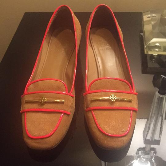 Tory Burch Brown suede with orange details. Pumps Image 1