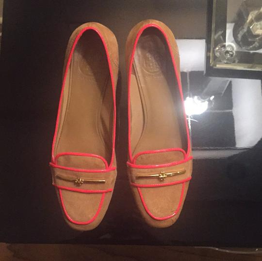 Tory Burch Brown suede with orange details. Pumps Image 2