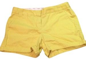 J.Crew Cuffed Shorts Yellow