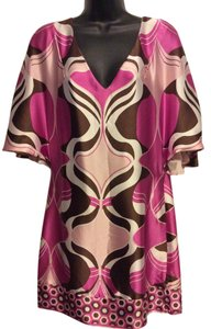 ECI New York short dress Pink/Brown Abstract on Tradesy