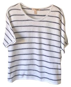 Forever 21 Top White with navy stripes