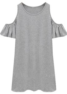 Topshop short dress Heather Grey Butterfly Sleeve on Tradesy
