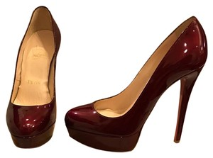 Christian Louboutin Burgundy Platforms