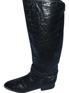 Charles David Croc Crocodile Black Boots