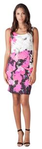 MILLY short dress Black, Pink, White & Purple on Tradesy