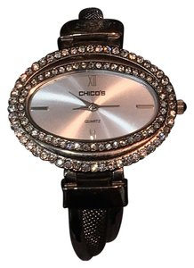 Chico's Chicos CZ STUDDED metal Bangle Watch