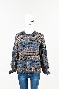 Missoni Purple Blue Wool Sweater