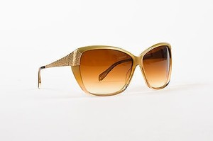 Oliver Peoples Oliver Peoples 20th Anniversary Beige Gold Tone Hammered Skyla Sunglasses