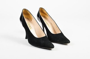 Chanel Suede Patent Black Pumps