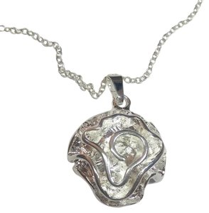 Other New Sterling Silver Filled Rose Necklace J2958