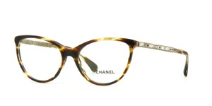 Chanel Chanel 3303B Bijoux Brown Cat Eye Crystal Eyeglasses Frames