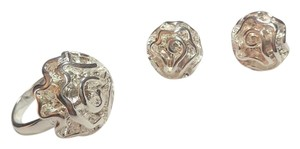 New Sterling Silver Filled Rose Ring Earrings J2959