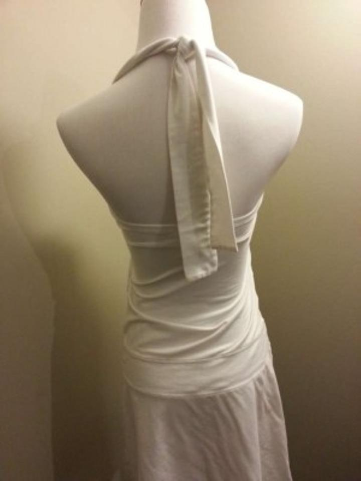 a02579d943 American Eagle Outfitters White Summer Marilyn Halter Above Knee ...
