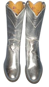 Justin Boots silver Boots