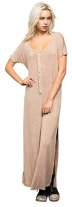 Beige Maxi Dress by Other Vintage Long Stonewash Maxi