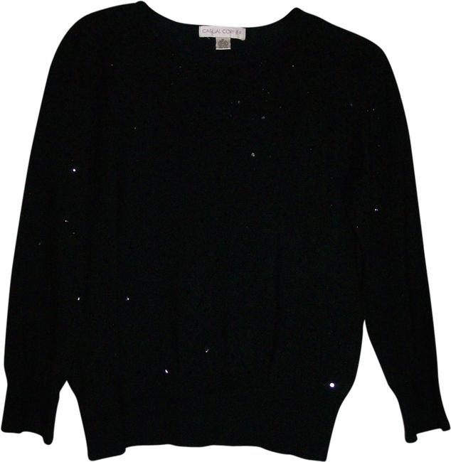 Preload https://item5.tradesy.com/images/casual-corner-black-with-black-sequins-sweaterpullover-size-16-xl-plus-0x-1967674-0-0.jpg?width=400&height=650