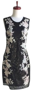 ERDEM Black Sequin Lace Dress