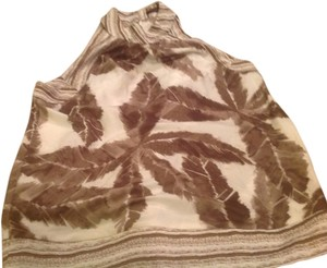 The Limited . Like New! Great Look Halter White with brown..accents Halter Top