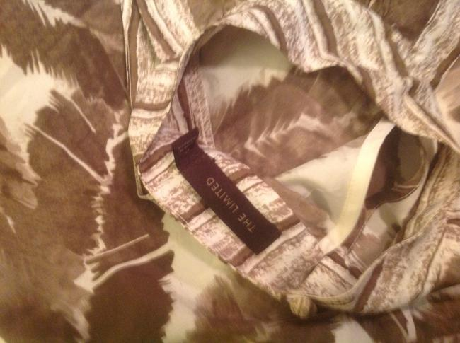 The Limited . Like New Great Look White with brown..accents Halter Top