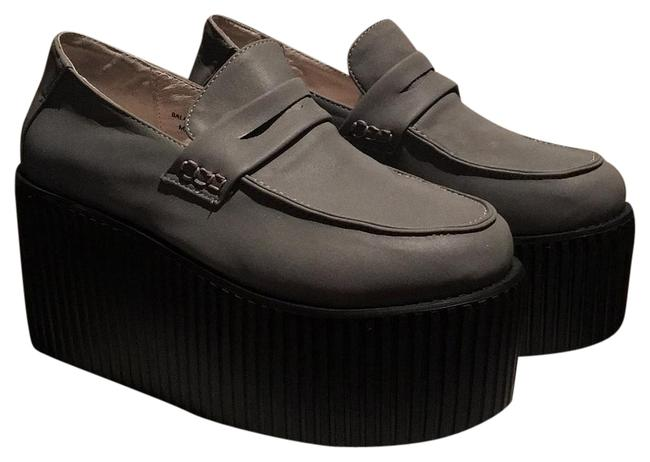 Item - Gray Creeper Loafer Platforms Size US 8 Narrow (Aa, N)