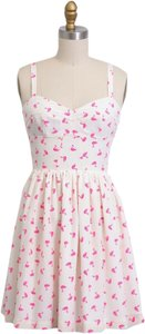 Amanda Uprichard short dress cream pink on Tradesy