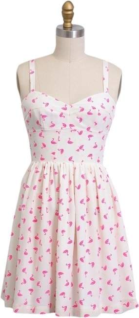 Preload https://item3.tradesy.com/images/amanda-uprichard-cream-pink-neon-swan-cocktail-summer-party-beach-small-above-knee-short-casual-dres-1967727-0-0.jpg?width=400&height=650