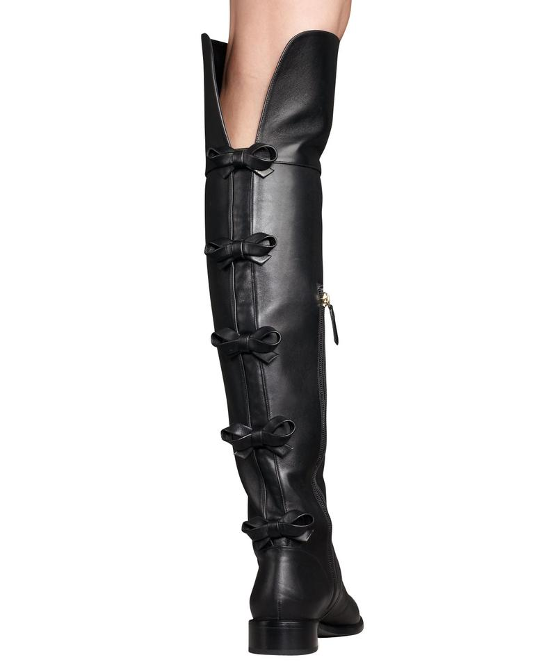 woman Valentino Great Black Bow-back Over-the-knee Boots/Booties Great Valentino classification 75e511