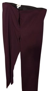 Cache Straight Pants Burgundy