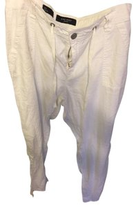 Nine West Linen Relaxed Pants white