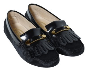 Tod's Black Pony Hair Flats