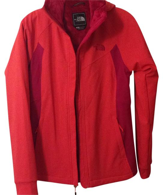 Item - Two Tone Red Jacket Coat Size 4 (S)