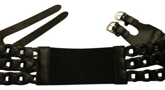 Preload https://item2.tradesy.com/images/express-black-two-pronged-stretch-wide-belt-196781-0-0.jpg?width=440&height=440